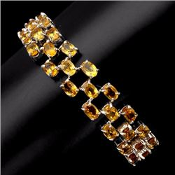 Natural Citrine 6x4 mm AAA 151 Carats Bracelet