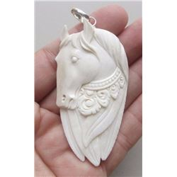 Hand Carved Pegasus Pendant
