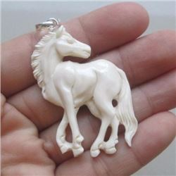 Hand Craved Horse Pendant