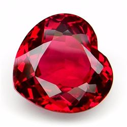 Natural Heart Red Topaz 16.10 carats - Flawless