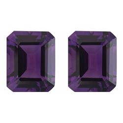 Natural Purple Amethyst Pair 10.01 Carats - VVS