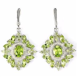 Natural Top Quality Peridot Earrings