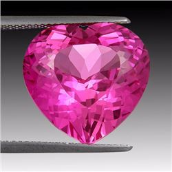 Natural Hot Pink Topaz 21.90 Carats - VVS