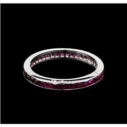 1.00 ctw Ruby Ring - Platinum