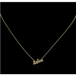 14KT Yellow Gold Bow Necklace
