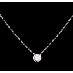 0.40 ctw Diamond Necklace - 14KT White Gold