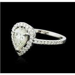 18KT White Gold 1.06 ctw Diamond Ring