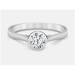 Diamond Ring - 14KT White and Yellow Gold