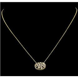 0.67 ctw Diamond Necklace - 14KT Yellow Gold