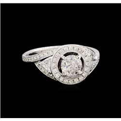 1.71 ctw Diamond Ring - 18KT White Gold