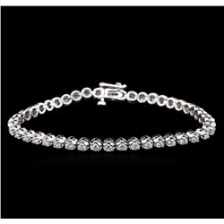 2.80 ctw Diamond Tennis Bracelet - 14KT White Gold