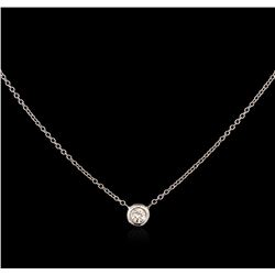 0.09 ctw Diamond Necklace - 14KT White Gold
