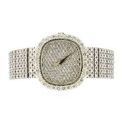 Patek Philippe 18KT White Gold 9.19 ctw Diamond Men's Watch
