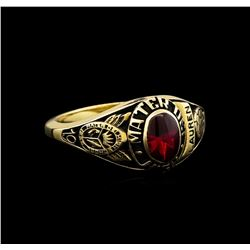 Mater Dei High School Ruby Ring - 10KT Yellow Gold