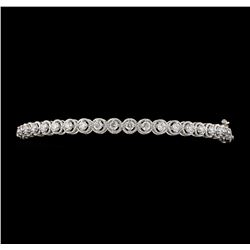 1.04 ctw Diamond Bangle Bracelet - 14KT White Gold