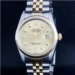 Rolex Two Tone Diamond DateJust Men's Watch