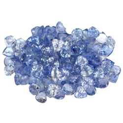 26.71 ctw Round Mixed Tanzanite Parcel