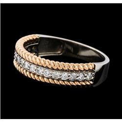 0.30 ctw Diamond Ring - 14KT Two-Tone Gold