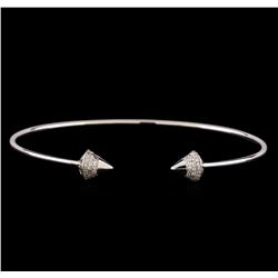 14KT White Gold 0.34 ctw Diamond Bangle Bracelet