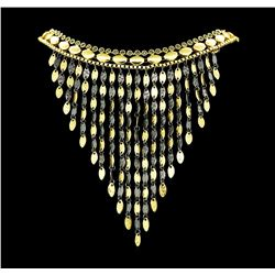 V Cascade Charm Necklace - Gold Plated