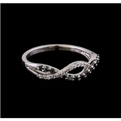 0.25 ctw Black Diamond Ring - 10KT White Gold