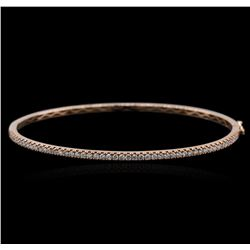 14KT Rose Gold 0.46 ctw Diamond Bracelet