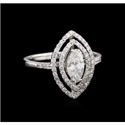 EGL INT Certified 0.98 ctw Diamond Ring - 18KT White Gold