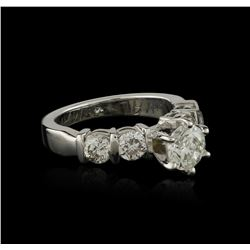 14KT White Gold 1.46 ctw Diamond Ring