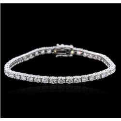 14KT White Gold 6.25 ctw Diamond Tennis Bracelet