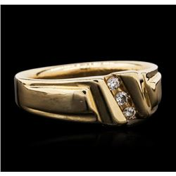 14KT Yellow Gold 0.10 ctw Diamond Ring