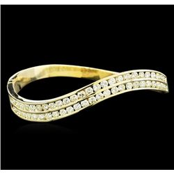 6.00 ctw Diamond Bangle Bracelet - 14KT Yellow Gold