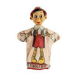 Vintage Emmitt Pinocchio WDP Disney Hand Fabric Puppet Collectible