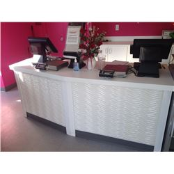 Curved White Counter 81.50