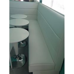 White Booth Lounger Corner Section (47.25 high)