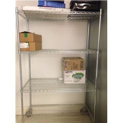 Chrome Shelving 24x48 with casters - 4 tiers