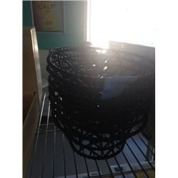 BLACK BASKETS TWO PILES