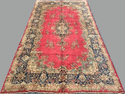 Image 1 Absolutely Majestic Super Fine Large Royal Persian Kerman Rug