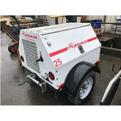 2012 MAGNUM PORTABLE GENERATOR 25KW, 110V,220V 3PHASE WITH 4CYL ISUZU DIESEL ENGINES SERIAL
