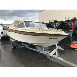 "1986 SEA LASER 17'-8"" POWERBOAT WITH 110HP MERCRUISER"