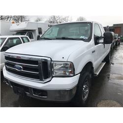 2006 FORD F-250 XL SUPER DUTY, PU, WHITE, VIN # 1FTSX21596EB16996