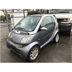2005 SMART FORTWO, 2 DOOR, GREY, VIN # WMEAJ00F75J168579