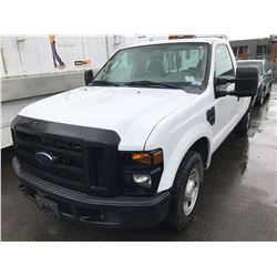 2008 FORD F-250 XL SUPER DUTY, CREW CAB, WHITE, VIN # 1FTNF20538EE04520