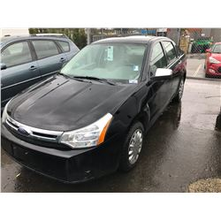 2008 FORD FOCUS SE, 4 DOOR SEDAN, BLACK, VIN # 1FAHP34N28W120015