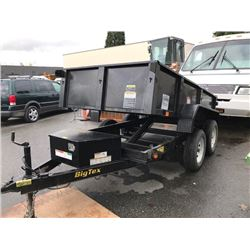2013 BIG TEX TANDEM AXLE 10' DUMP TRAILER MODEL 70SRI