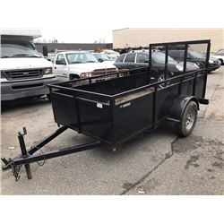 2017 10FT UTILITY TRAILER, BLACK, VIN # LN5MFE