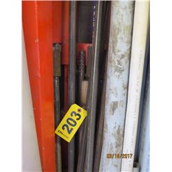 Solid Hex Steel Rods w/ bit