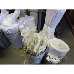 5 Pails - new white canvas sacks various sizes