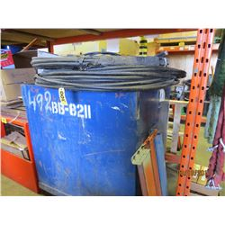 Metal Scrape Wire Bin filled with misc copper filled cable