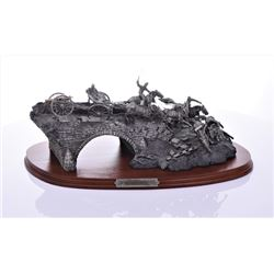 Burnside's Bridge Pewter Sculpture by