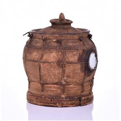 African Nkondi Terra Cotta Two Level Food Con